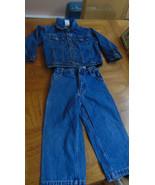 """FADED GLORY"" Jacket & Jeans 4T-Adjustable Pants-Carpenter-Snaps-Denim - $6.50"