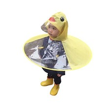 Lafuncosa Child Yellow Duck UFO Raincoat Hand Free Umbrella Cloak S Kid ... - $15.73