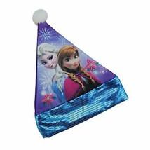 "Disney Disney 15"" Disney Frozen Elsa Anna Children's Purple Santa Hat Bl... - $8.65"