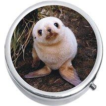 Baby Seal Pup Medicine Vitamin Compact Pill Box - $9.78
