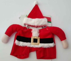 Santa Costume 3D Walking Puppy Dog Pet Red Hat Christmas Extra Small / S... - €7,36 EUR