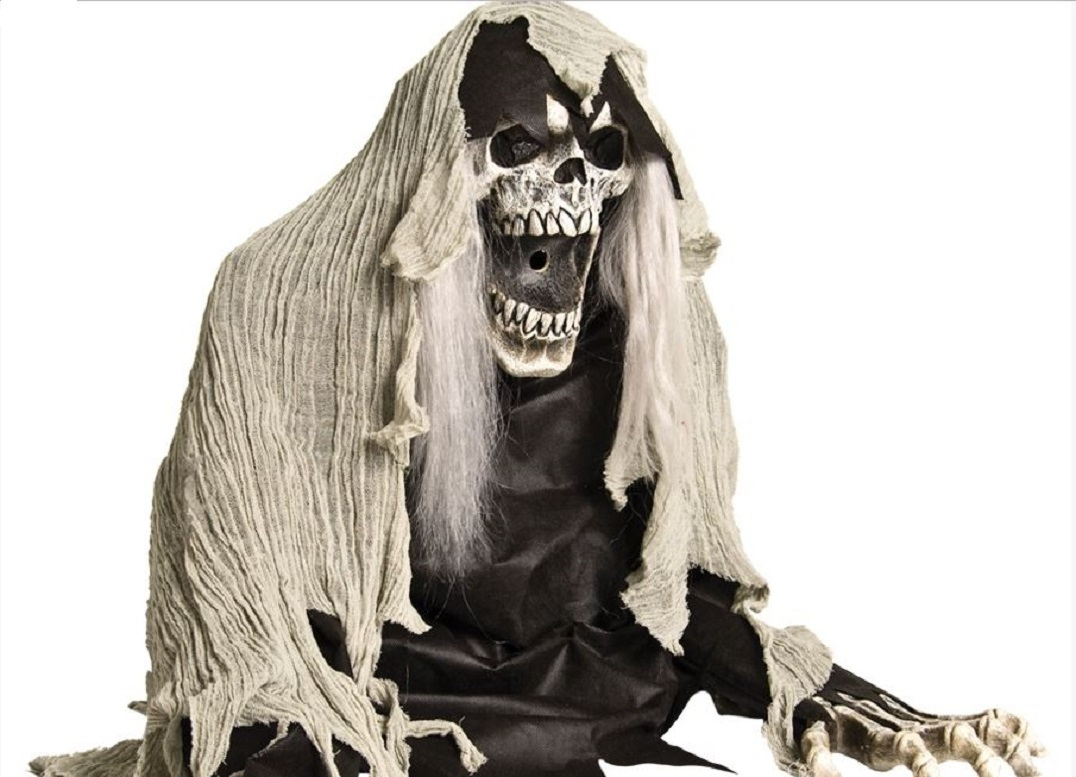 Grim Reaper Coming Out of The Ground Fogger 2 Ft Halloween Prop Decoration