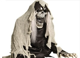 Grim Reaper Coming Out of The Ground Fogger 2 Ft Halloween Prop Decoration  - €58,15 EUR