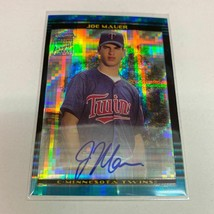 Joe Mauer Rc 2011 Bowman Chrome X-Fractor Auto - $765.70