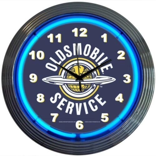 "Primary image for Gm Oldsmobile Service Neon Clock 15""x15"""