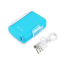 REIKO 4000MAH UNIVERSAL POWER BANK WITH CABLE IN BLUE PB4000-BL - $24.95