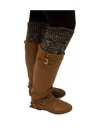 NEW Women's Winter Marble Black Grey Knee High Warm Knitted Footless Leg... - $7.66