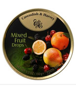 Cavendish & Harvey hard drop Mixed Fruit Drops Candy, 5.3 oz tin Case of 12 - $44.99
