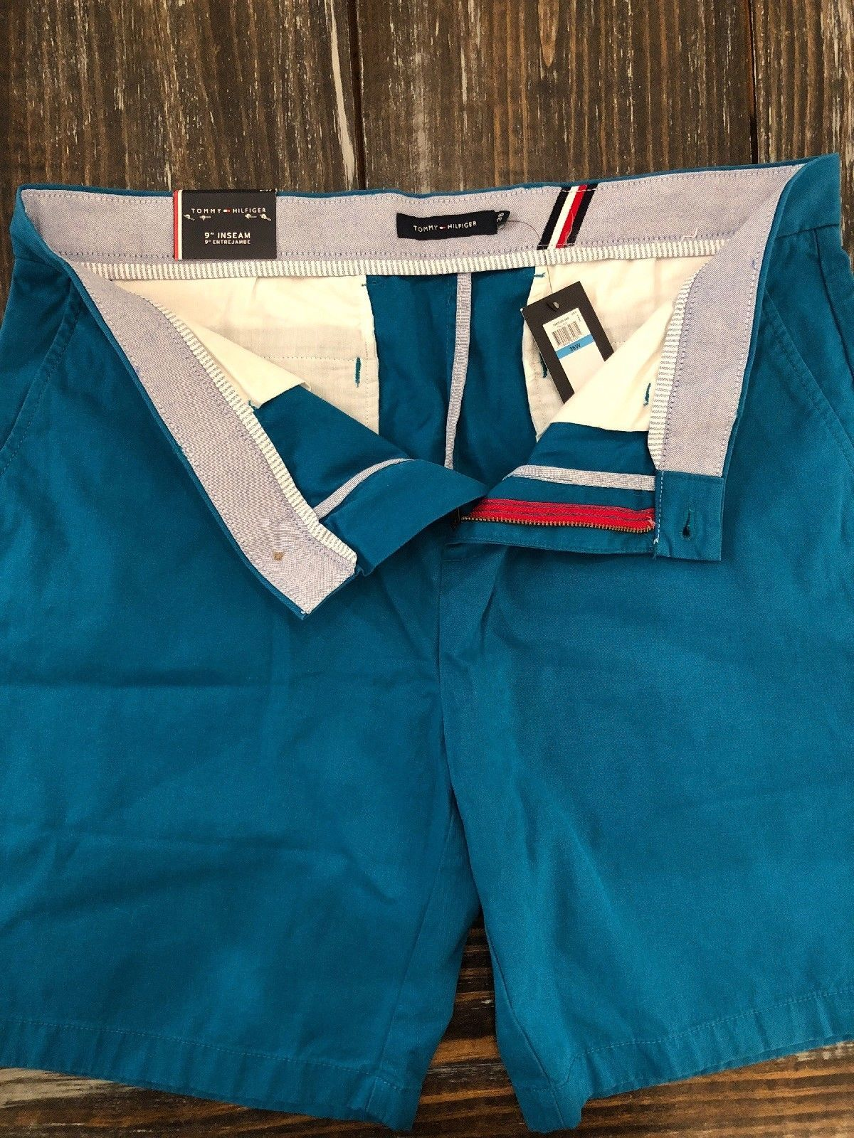 "Tommy Hilfiger 9 Inch Shorts ""Ocean Depths"" Aqua Green Mens Size 36 Brand NEW!!!"