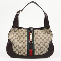 "Gucci Monogram Canvas ""Jackie Hobo"" Bag - $460.00"