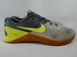 Nike Metcon 3 Taglia 13 M (D) Eu 47.5 Uomo Croce Scarpe da Ginnastica Grigio