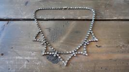 """Antique KRAMER Rhinestone Necklace 14.75"""" - $24.74"""