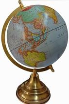 World Map Antique Globe Beautiful Table Decor Home Office Globe Blue 12.... - $31.87