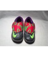 Nike KD VI (TD) Toddler Energy Cool Grey Electric Green Crimson 599479-0... - $29.69