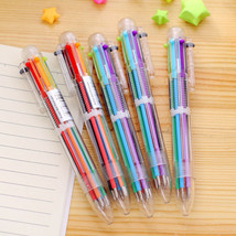 6 in 1 Color Ballpoint Pen Multi-color Ball Point Pens For School Office... - $3.00