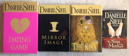 Lot 4 Danielle Steel The Kiss, Mirror Image, Dating Game, The Sins of th... - $3.31