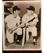 Billy Martin Mickey Mantle Yankee Vintage 8X10 Sepia Baseball Memorabil... - $5.99