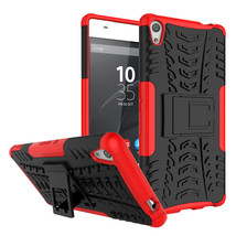 Armor Shockproof Kickstand Protective Cover Case For Sony Xperia XA Ultra - Red  - $4.99