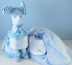 Puppy Diaper Cake Surprise Baby Boy Gift - $148.00
