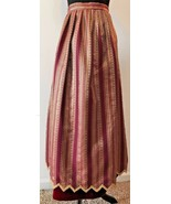 Vintage Farinae Collections Burgundy and Gold Brocade Long Skirt size M ... - $19.95