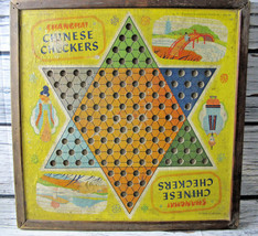 Chinese Checkers 1938 Transogram Shanghai Game Board Framed Rare - $22.23