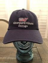 Vineyard Vines Navy Blue Embroidered USA FLAG Whale Dad Hat Cap Baseball... - $27.72