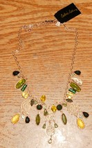COOKIE LEE Necklace Stunning Gold & Greens NWT Adjustable Size - $8.50
