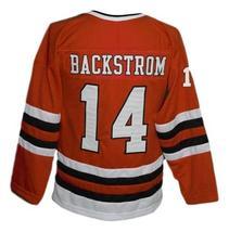 Ralph Backstrom #14 Denver Spurs Custom Retro Hockey Jersey New Orange Any Size image 2
