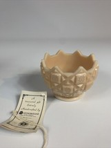 Vintage Westmoreland Old Quilt Pattern Pink Milk Glass Candy Dish Bowl MCM - $24.75