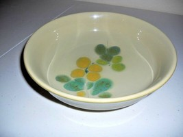 Franciscan Pebble Beach Olive Green Floral 9.5 Diam Bowl - $8.68