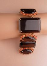 Dramatic BIG Bracelet - Smokey Quartz - Bounkit jewelry - original tag -... - $325.00