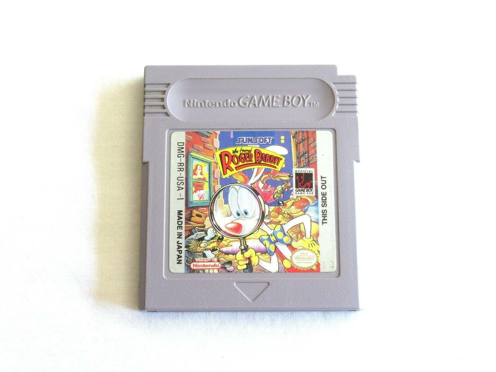 Who Framed Roger Rabbit (Nintendo Game Boy, 1991) Tested and Works