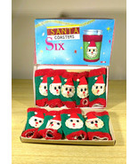 Darling Vintage Dan-Dee Imports NYC • Santa Drink Glass Coasters • Made ... - $10.00