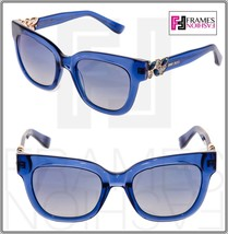 Jimmy Choo Maggie Transparent Blue Rose Gold Mirrored Jewel Sunglasses MAGGIE/S - $263.34