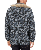 Men's Heavy Weight Winter Coat Removable Faux Fur Trim Hood Puffer Parka Jacket image 15