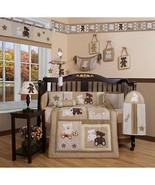 Brown Tan Teddy Bear 13pcs Crib Bedding Set Baby Boy Nursery Quilt Bumpe... - $129.59