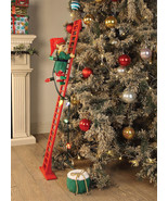 Mr Christmas ANIMATED SUPER CLIMBING ELF Holiday Decor MUSICAL STEPPING - $99.99