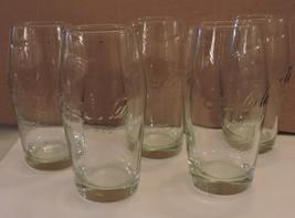 Lot of 5 Coke Glasses Raised Print (Enjoy the Refreshing Feeling) Rare 10oz - $11.88