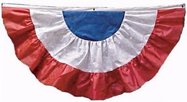4' x 8' Red, White & Blue Non-Woven Fabric Fan Drapes With Grommet Holes - $23.64