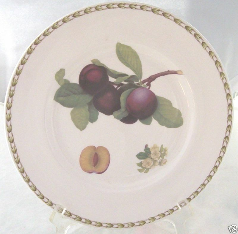 Primary image for ROSINA QUEENS HOOKERS FRUIT DINNER PLATE PLUM
