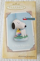 Hallmark Keepsake Peanuts Gang Snoopy A New Friend Spring 2004 Ornament - $14.80
