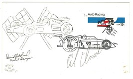 AL UNSER RACE CAR DRIVER INDY 500 ORIGINAL AUTOGRAPH ON AUTO RACING STAM... - $12.30