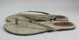 G par Guess Baylar Tongs Chaussures Serpent Signature Plat Taille 8.5 - $20.96