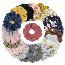 Jaciya 20 Pack Women's Large Chiffon Hair Scrunchies for Hair Chiffon Po... - $11.63