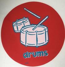 Cranium Hullabaloo Children Game Red Drums Round Circle Foot Mat Floor P... - $5.34