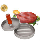 Hamburger Meat Shaper Patties Manual Maker Burger BBQ Press Kitchen Dini... - ₨921.68 INR