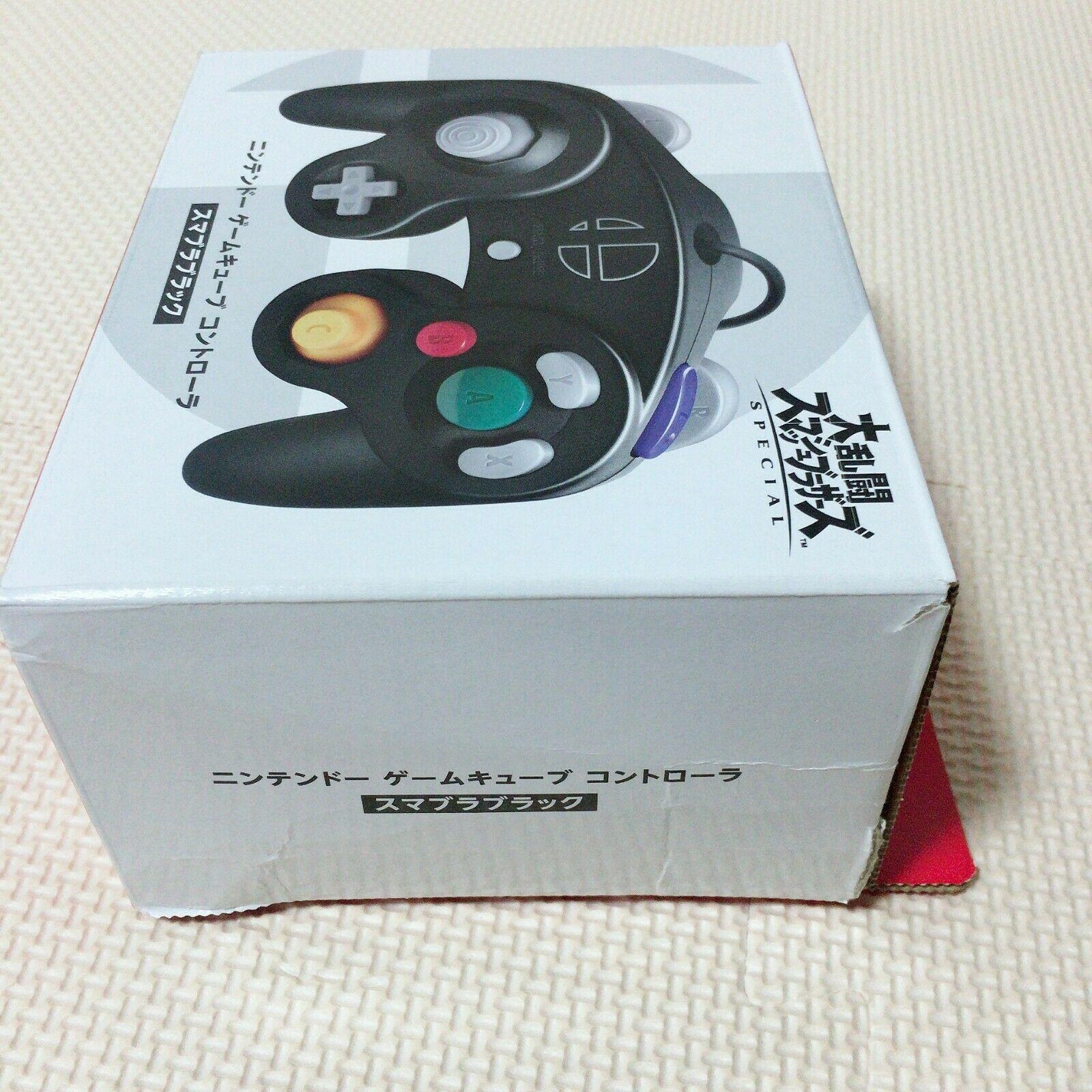 Ex condition GameCube Controller Smash Bros Black Nintendo GC Japan  with Boxed