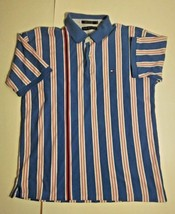 Vintage Tommy Hilfiger Stripe Polo With Raised Patch Stripe - $39.55