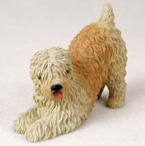 WHEATEN TERRIER  DOG Figurine Statue Hand Painted Resin - $17.25