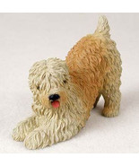 WHEATEN TERRIER  DOG Figurine Statue Hand Painted Resin - $17.25